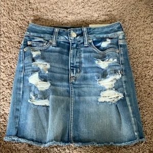 new with tags distressed american eagle jean skirt